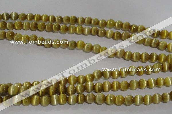CCT1277 15 inches 5mm round cats eye beads wholesale