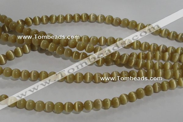 CCT1278 15 inches 5mm round cats eye beads wholesale