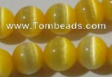 CCT1375 15 inches 7mm round cats eye beads wholesale