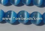 CCT1389 15 inches 7mm round cats eye beads wholesale