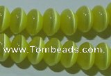 CCT277 15 inches 5*8mm rondelle cats eye beads wholesale