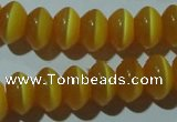 CCT279 15 inches 5*8mm rondelle cats eye beads wholesale