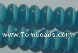 CCT284 15 inches 5*8mm rondelle cats eye beads wholesale