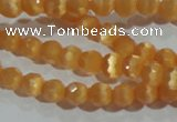 CCT306 15 inches 4mm faceted round cats eye beads wholesale