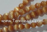 CCT307 15 inches 4mm faceted round cats eye beads wholesale