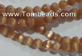 CCT308 15 inches 4mm faceted round cats eye beads wholesale