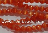 CCT310 15 inches 4mm faceted round cats eye beads wholesale