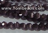 CCT313 15 inches 4mm faceted round cats eye beads wholesale