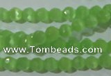 CCT315 15 inches 4mm faceted round cats eye beads wholesale