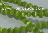 CCT316 15 inches 4mm faceted round cats eye beads wholesale