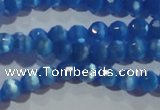 CCT326 15 inches 4mm faceted round cats eye beads wholesale