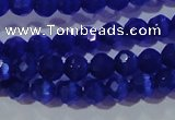 CCT327 15 inches 4mm faceted round cats eye beads wholesale