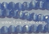 CCT346 15 inches 5mm faceted round cats eye beads wholesale