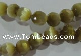 CCT358 15 inches 6mm faceted round cats eye beads wholesale