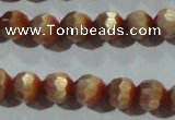 CCT359 15 inches 6mm faceted round cats eye beads wholesale