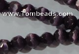 CCT367 15 inches 6mm faceted round cats eye beads wholesale