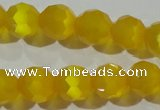 CCT377 15 inches 8mm faceted round cats eye beads wholesale