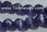 CCT381 15 inches 8mm faceted round cats eye beads wholesale