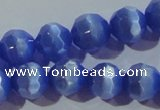 CCT382 15 inches 8mm faceted round cats eye beads wholesale