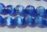 CCT383 15 inches 8mm faceted round cats eye beads wholesale