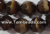 CCT395 15 inches 10mm faceted round cats eye beads wholesale