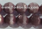 CCT396 15 inches 10mm faceted round cats eye beads wholesale