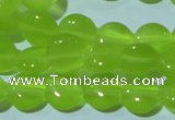 CCT461 15 inches 6mm flat round cats eye beads wholesale