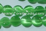 CCT462 15 inches 6mm flat round cats eye beads wholesale
