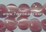 CCT486 15 inches 8mm flat round cats eye beads wholesale