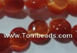 CCT487 15 inches 8mm flat round cats eye beads wholesale