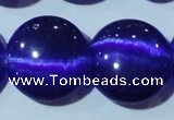 CCT580 15 inches 14mm flat round cats eye beads wholesale