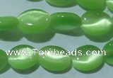 CCT649 15 inches 6*8mm oval cats eye beads wholesale