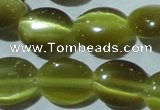 CCT672 15 inches 8*10mm oval cats eye beads wholesale