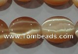 CCT696 15 inches 10*12mm oval cats eye beads wholesale