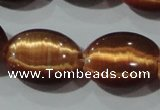 CCT726 15 inches 10*14mm oval cats eye beads wholesale