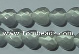 CCT970 15 inches 12*12mm faceted heart cats eye beads wholesale