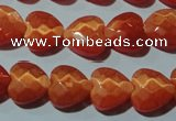 CCT971 15 inches 12*12mm faceted heart cats eye beads wholesale