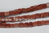 CCU06 15.5 inches 4*4mm cube goldstone beads wholesale