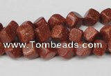 CCU105 15.5 inches 6*6mm cube goldstone beads wholesale