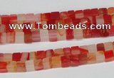 CCU32 15.5 inches 5*5mm cube red agate beads wholesale