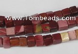 CCU35 15.5 inches 5*5mm cube mookaite beads wholesale
