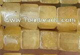 CCU480 15.5 inches 6*6mm cube yellow aventurine beads wholesale