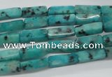 CCU510 15.5 inches 4*13mm cuboid sesame jasper beads wholesale