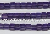 CCU55 15.5 inches 6*6mm cube synthetic amethyst beads wholesale