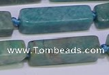 CCU615 15.5 inches 8*20mm - 10*30mm cuboid amazonite beads