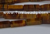 CCU719 15.5 inches 4*13mm cuboid yellow tiger eye beads wholesale