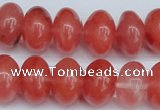 CCY151 15.5 inches 13*18mm rondelle cherry quartz beads wholesale
