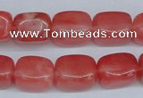 CCY152 15.5 inches 11*15mm cuboid cherry quartz beads wholesale