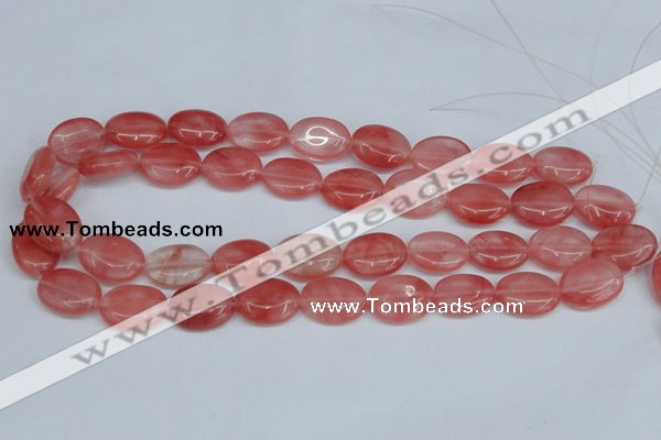 CCY158 15.5 inches 15*20mm oval cherry quartz beads wholesale