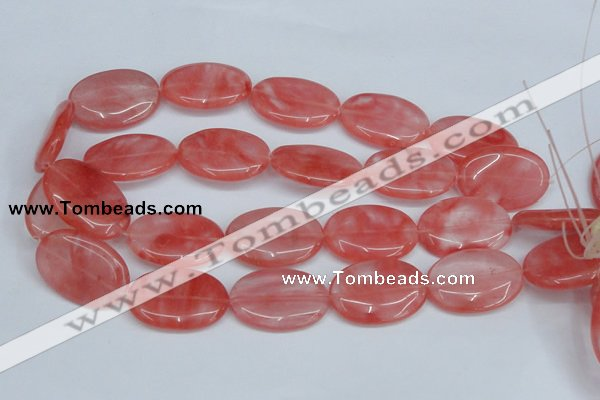 CCY160 15.5 inches 22*33mm oval cherry quartz beads wholesale
